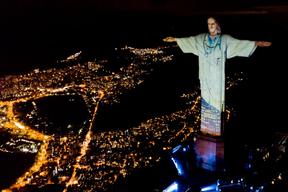 Christ the Redeemer statue in Rio lit up as a doctor, in tribute to  healthcare workers   CNN Travel