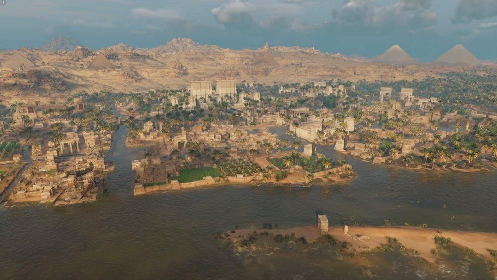 Kala Kshetram — Memphis, Egypt, reconstruction made by Ubisoft for...