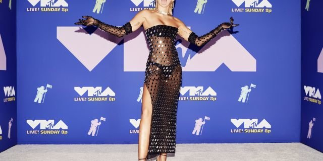 NEW YORK, NEW YORK - AUGUST 30: (EDITORIAL USE ONLY) Miley Cyrus attends the 2020 MTV Video Music Awards, broadcast on Sunday, August 30, 2020 in New York City. (Photo by Vijat Mohindra/MTV VMAs 2020/Vijat Mohindra/MTV VMAs 2020 via Getty Images)
