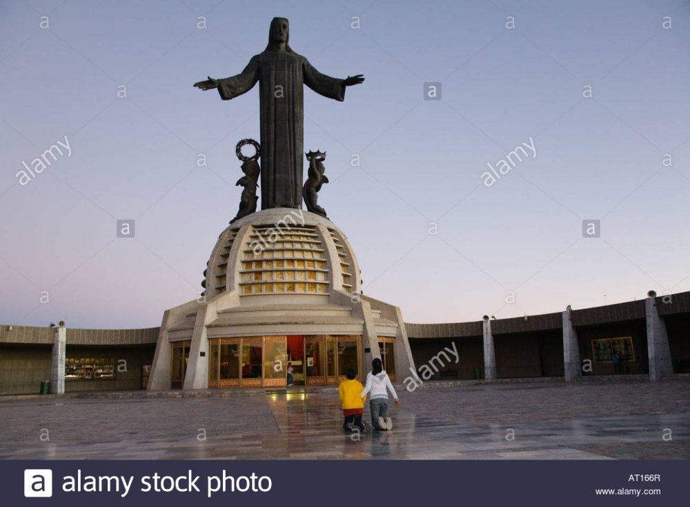 MEXICO Guanajuato Cristo Rey shrine Cubilete large statue of Jesus Stock  Photo - Alamy