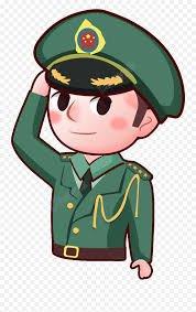 Pin - Soldier Salute Cartoon Png Emoji - free transparent emoji ...