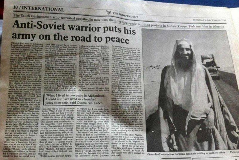 1993 Independent Article About Osama Bin Laden