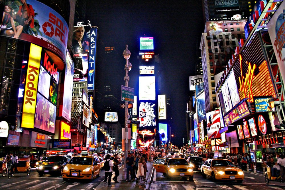 What's interesting about Times Square is although, in person, it is full of  hypermediacy, once it is a p… (With images)   Times square new york, Nyc  times square, New york travel