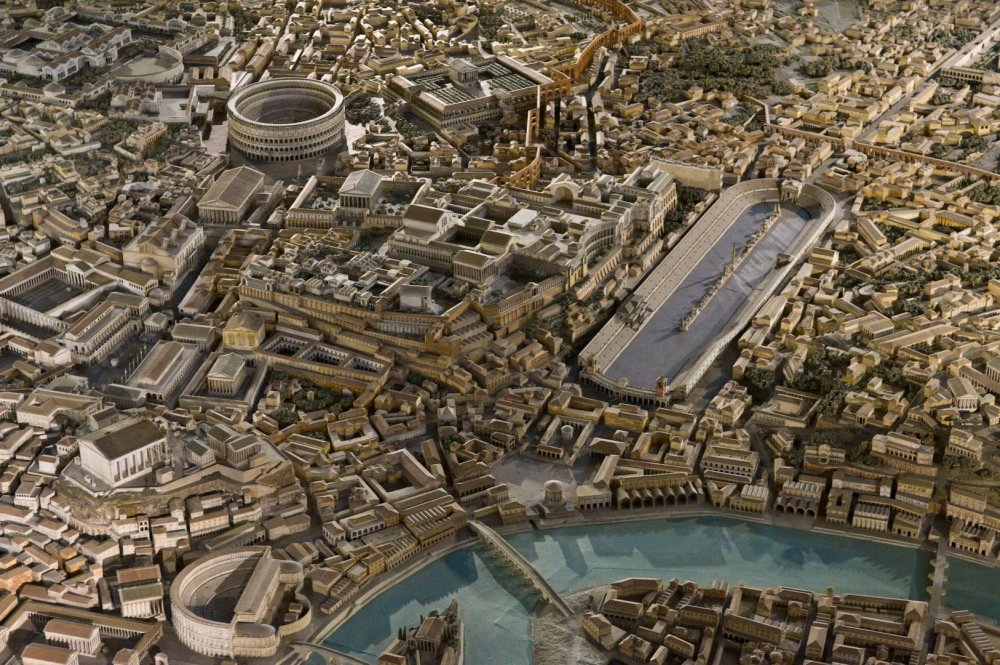 A picture of ancient Rome reconstructed | Ancient rome, Rome, Roman  architecture