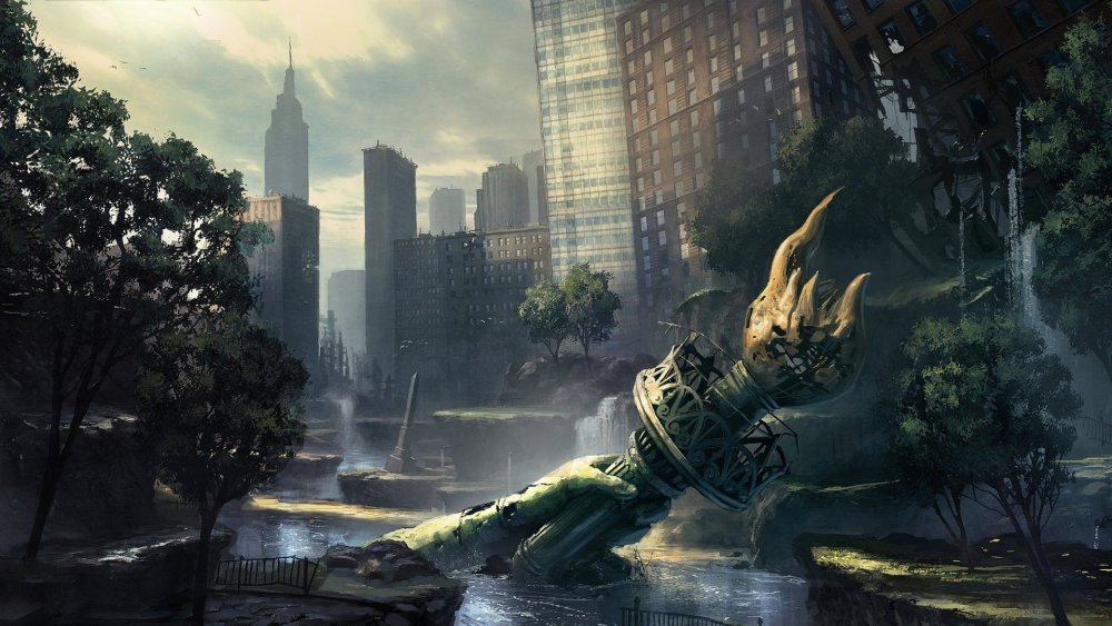Ruins Post-apocalyptic New York City Statue Of Liberty Flooded | Post  apocalyptic city, Post apocalyptic, Apocalyptic