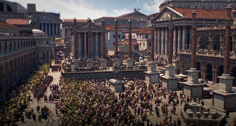 3D reconstruction of the Roman Forum circa 4th Century AD: ancientrome