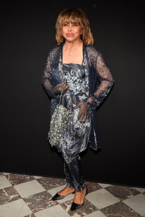 Tina Turner at Paris Fashion Week on July 3