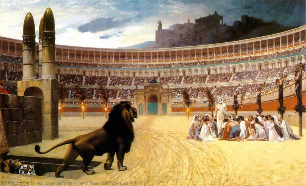 The Christian Martyrs' Last Prayer - Jean Léon Gérôme | WikiOO.org -  Encyclopedia of Fine Arts
