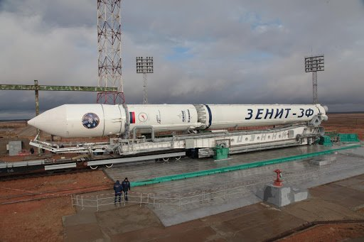 Zenit Rocket rolls to Baikonur Launch Pad for one Final Liftoff on ...