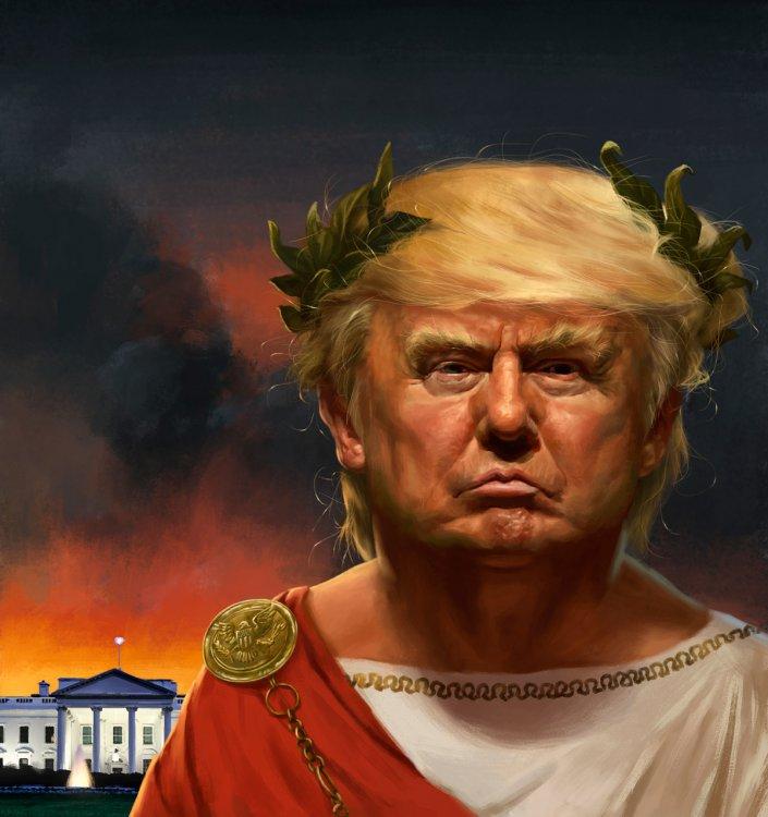 Trump as Nero on Behance