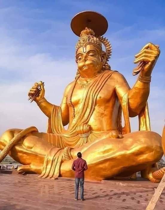 "Laxmisha on Twitter: ""Tallest sitting statue of SHREE HANUMANJI KI is at  indore in MP. Pitreshwar Hanuman Mandir, Indore – 72 Feet High Statue of  Lord Hanuman. Pitreshwar Hanuman Dham in Indore is"
