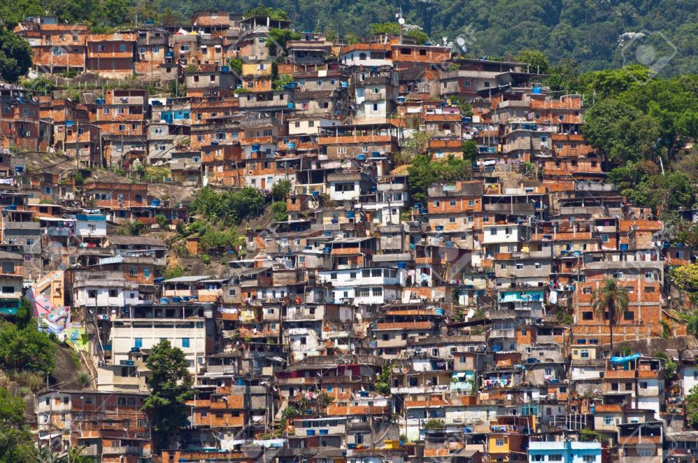 Aerial View Of Poor Living Area On The Hills Of Rio De Janeiro,.. Stock  Photo, Picture And Royalty Free Image. Image 58050647.
