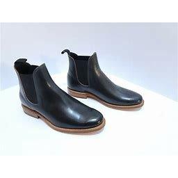 Viberg Navy Shell Cordovan Wholecut Chelsea Boots 2050 Last Size 9