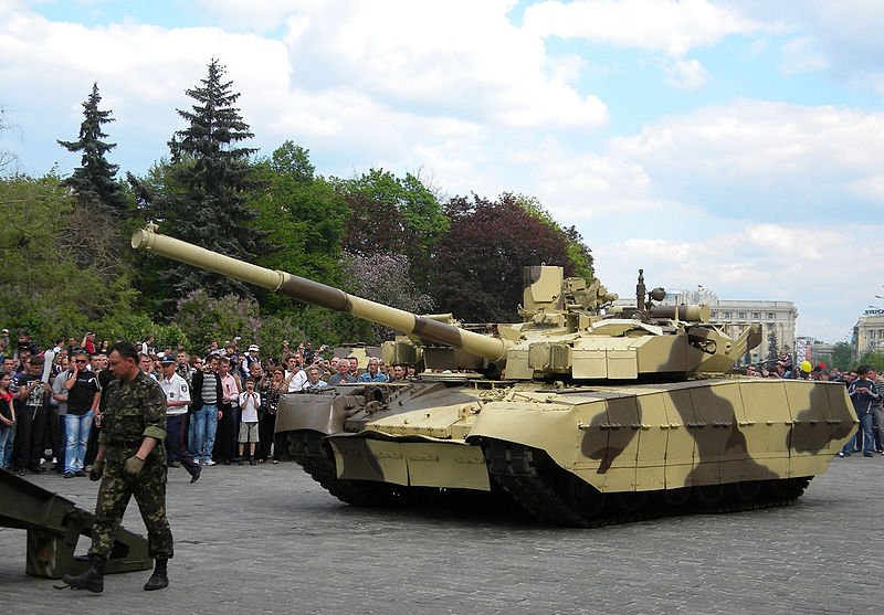 File:T-84 Oplat guided onto a tank transporter.jpg