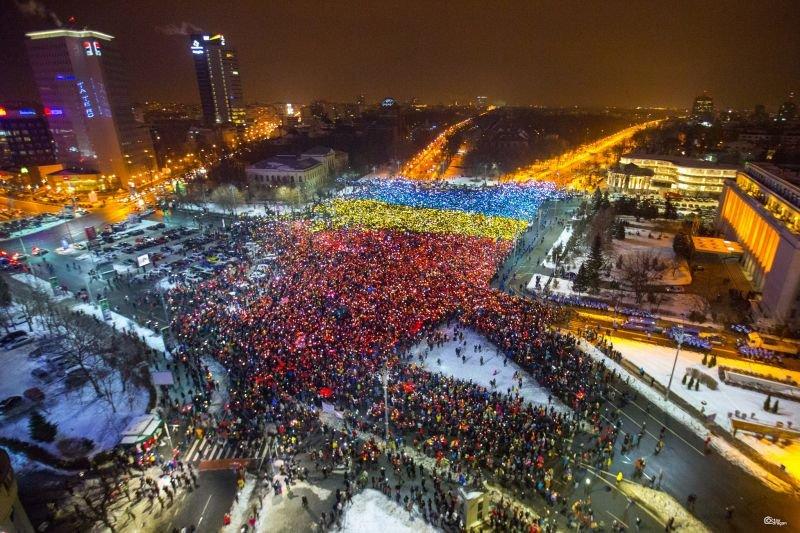 "Protest ""Operatiunea Tricolorul + Revolutia Luminii"""